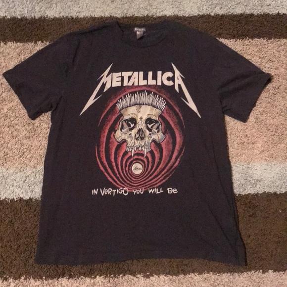 2af8ca697 H&M Shirts | Metallica Hm In Vertigo You Will Be Band Tee Large ...